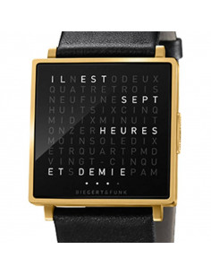 Qlocktwo Montre W YELLOW OR